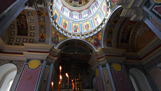 Видео росписи стен Александро-Невского кафедрального собора в Симферополе
