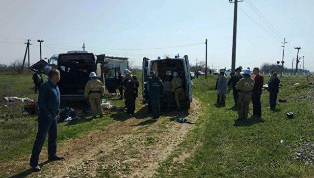 ВДТП сэлектричкой имикроавтобусом вКрыму пострадали двое жителей Украинского государства