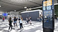 Видео: Новый терминал аэропорта Симферополь протестировали студенты и волонтеры
