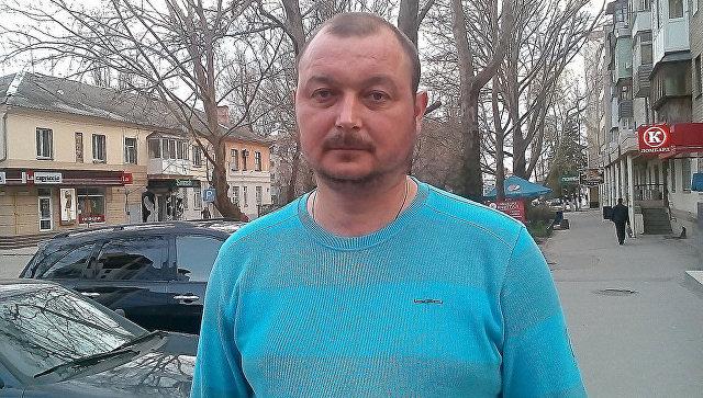 Капитан судна Норд Владимир Горбенко в Херсоне