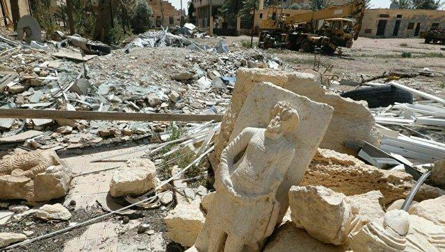 Разрушения в Дамаске в Сирии. 14 апреля 2018