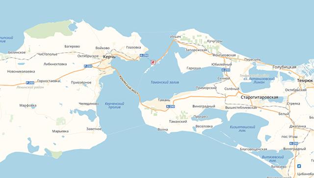 Карта Крымского моста