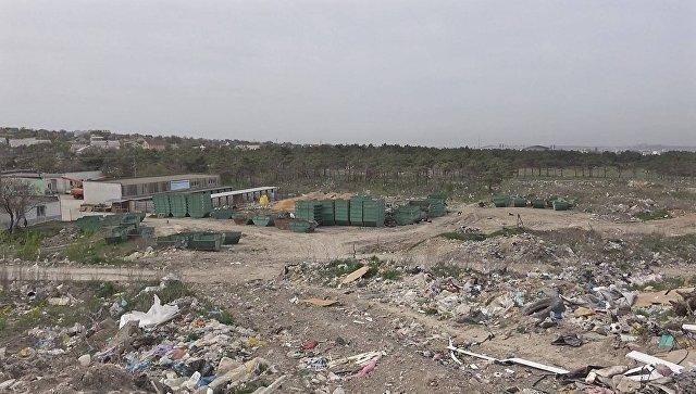 Полигон твердых коммунальных отходов в микрорайоне Каменка в Симферополе