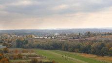 Вид на  поля и село Мазанка Симферопольского района