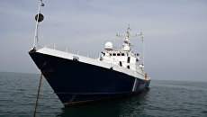 Видео рейда пограничного сторожевого корабля Крым
