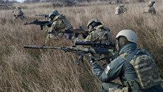 Морские пехотинцы ВС Украины во время учений
