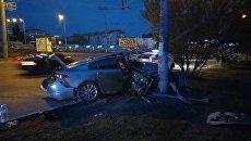 ДТП с участием автомобиля Jaguar в Симферополе