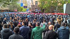 Протестующие в Ереване, Армения. 22 апреля 2018