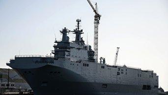 Минпром: завод Залив может строить корабли по типу Мистралей