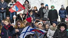 Празднование годовщины Крымской весны в Крыму