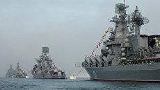 Парад кораблей Черноморского Флота России в Севастополе