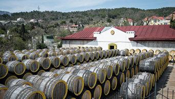 Винодельческий завод Массандра в Крыму